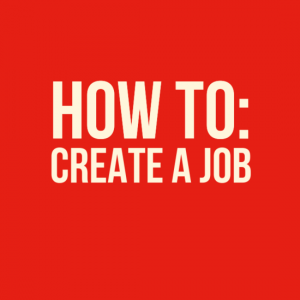 How to create a job