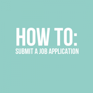 How to submit a job application