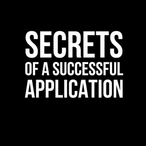 Secrets of a successful application