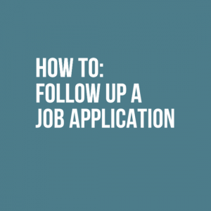 how to follow up a job advertisement