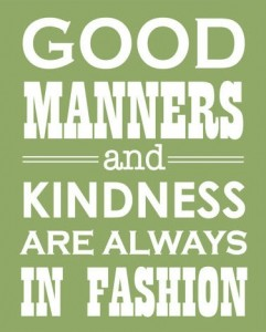 Good manners and kindness when looking for a job